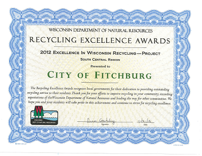 Excellence In Recycling Award