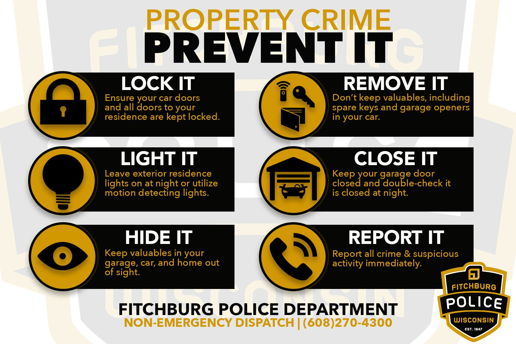 lock your door. Property Crime Fpd Lock Your Door