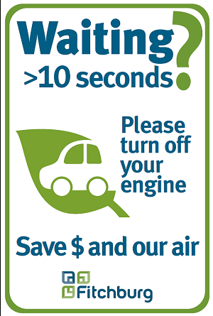 idling reduction sign