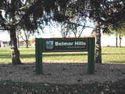 Belmar Hills Park Sign