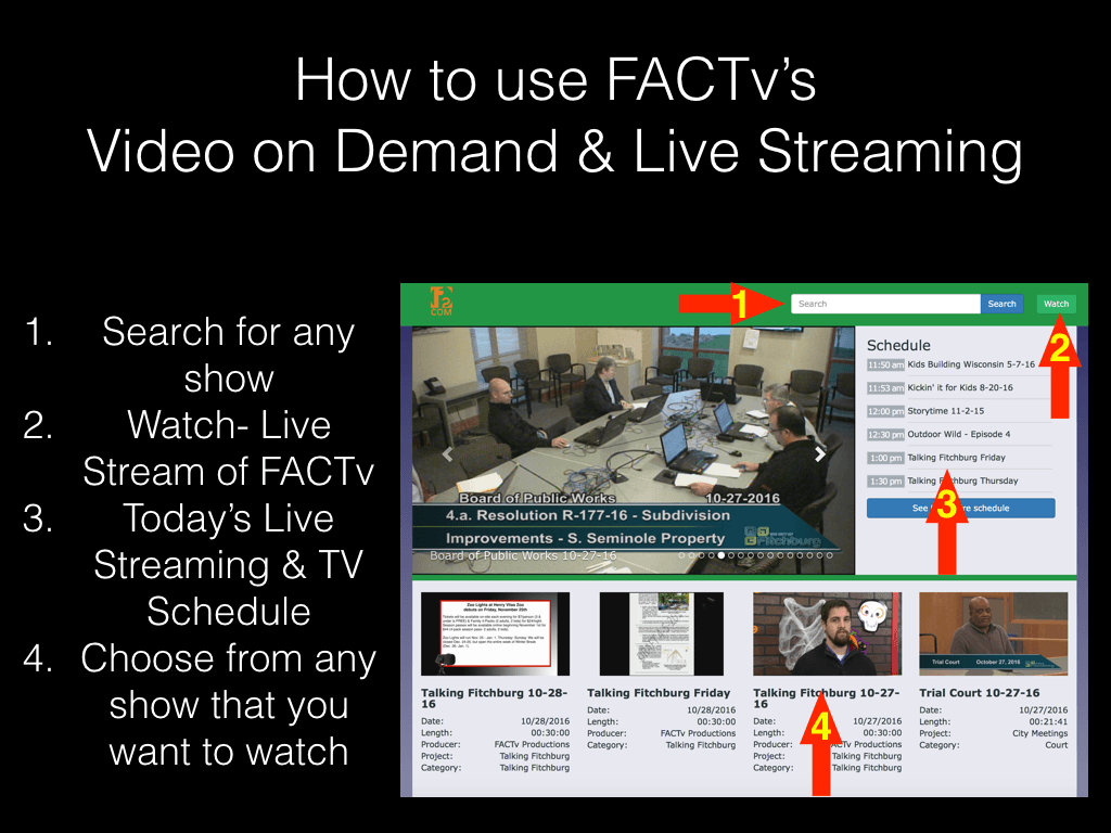 How to use FACTv's Live Streaming and Video on Demand