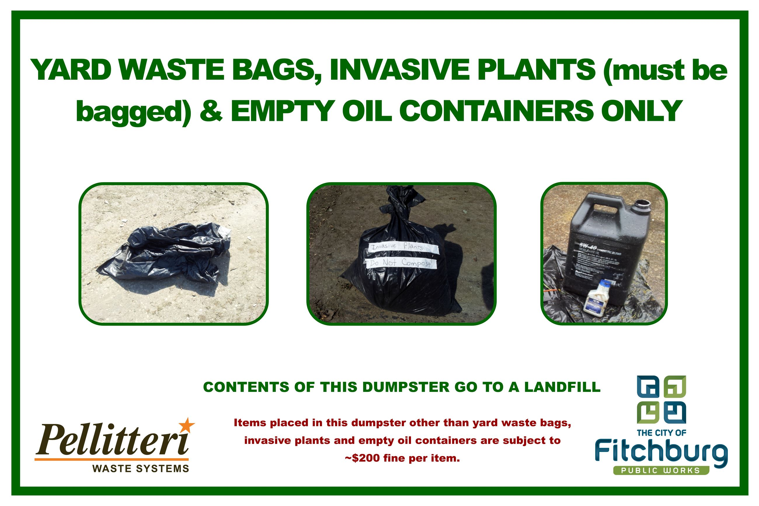 YardWaste Bag and Oil Container 3x2 2013-09-17